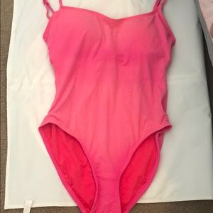 Anne Cole pink one piece bathing suit